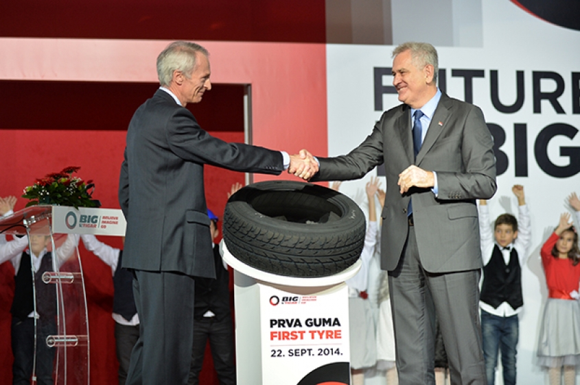 Michelin inaugurated its new tyre plant in Serbia