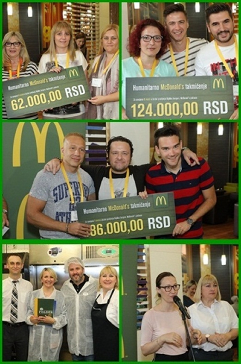 Humanitarian competition in making of a  Big Mac burger