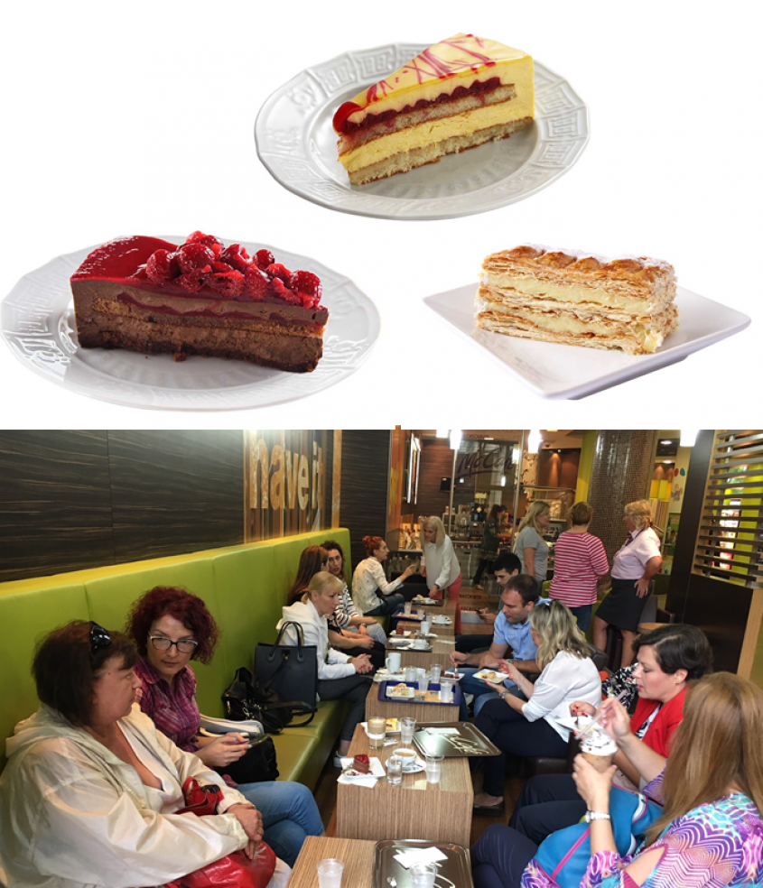 Italian desserts at McCafé offer