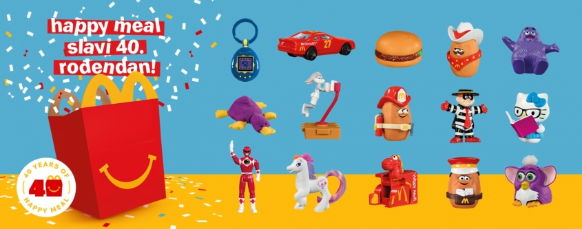McDonald's presents a limited edition series of Surprise Happy Meal with legendary toys that take us back to past 40 years