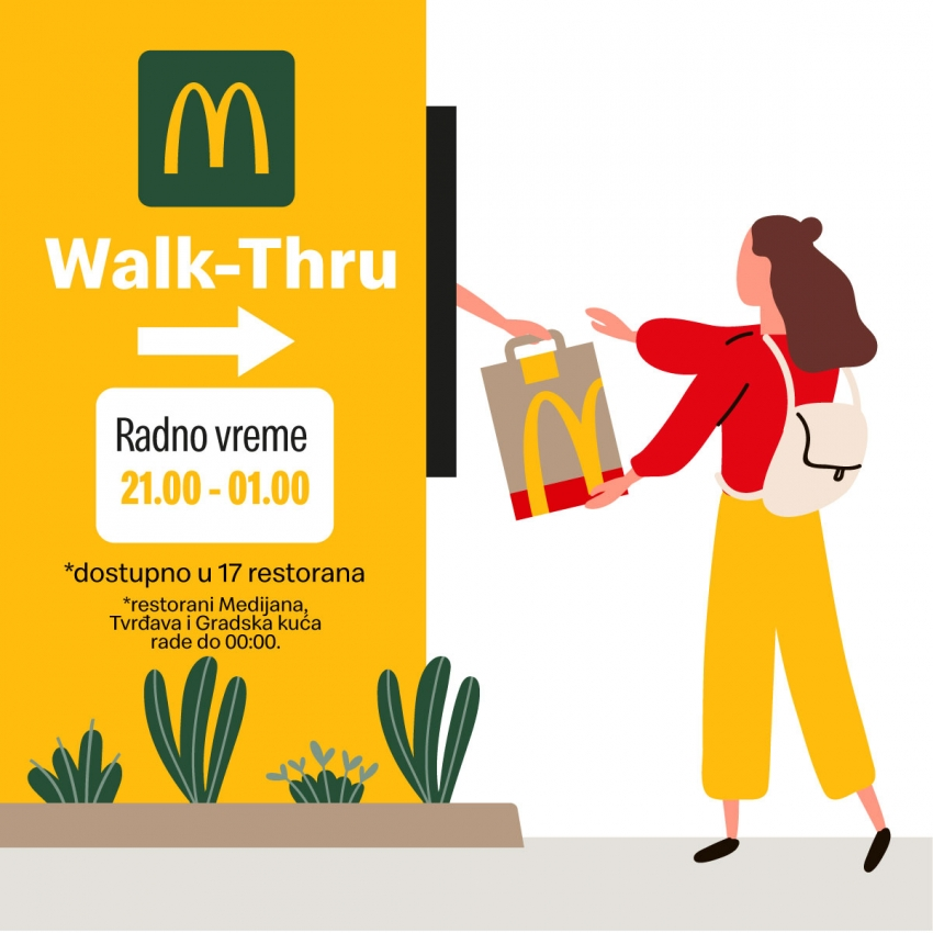 New service at McDonald's restaurants – Walk Thru