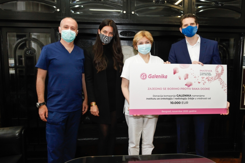 Galenika has donated funds to the Institute of Oncology and Radiology of Serbia